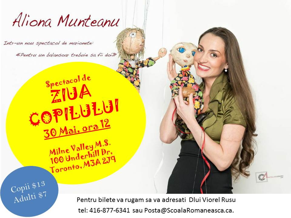Spectacolul de papusi cu actrita Aliona Munteanu