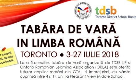 TABARA DE VARA IN LIMBA ROMANA – EDITIA A 6-A se va desfasura anul acesta la locatia Pleasant View Middle School